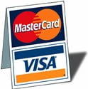 Visa Mastercard Discover PayPal Accepted